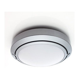 """Luceplan - Metropoli D20/17 Outdoor Light - Features: -Outdoor ceiling/wall light. -Metropoli Collection. -Designed by Alberto Meda, Riccardo Sarfatti and Paolo Rizzatto. -Available in painted aluminum. -Polycarbonate diffuser. -ADA compliant when mounted on wall. -UL listed. -Suitable for wet locations. Specifications: -ADA compliant when mounted on wall. -UL listed. -Suitable for wet locations. -Kit includes D20/17.2 component which uses 1 X 9W G23-2 based compact fluorescent bulb (bulb not included). -Replacement bulb available - please call to order. -Overall Dimensions: 6.7"""" H x 6.7"""" W x 3"""" D."""