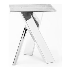 """Table Bases - Chrome Table Base (28"""" tall). Available in Plain Steel, Powder Coated (in multiple colors), and Chrome.  Holds square or round table tops from 42"""" to 60"""".  Please contact us for pricing and samples."""