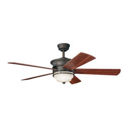 "Kichler - Kichler 300114OZ Hendrik 52"" Indoor Ceiling Fan 5 Blades - Remote, Light - Kichler 300114 Hendrik Ceiling Fan"