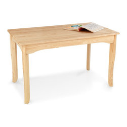 KidKraft - Long Oslo Kids Writing Table - Our Long Oslo Table provides kids with a gorgeous workspace for playing, reading or even enjoying a tasty snack. Features: -Writing table.-Sized perfectly for kids.-Seats up to six kids at once.-Smart, sturdy rubber wood construction.-Color: Natural.-Distressed: No.Dimensions: -Overall Product Weight: 35 lbs.