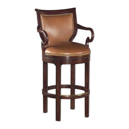 EuroLux Home - New Swivel Counter Stool Solid Hardwood - Product Details