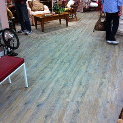 Luxury Vinyl Flooring - Assistance League. Furnished and installed by Hemphill Rug, Costa Mesa, CA