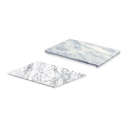Evco Int'l Inc. Dba Creative Home - Stone Serving Boards - Marble boards are ideal platters that keep cheese, fruit and pastries frest for hours. Righly polished, natural marble stone is non-porous and easy-to-clean.