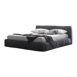 Rossetto - Twist Dark Grey Platform Bed by Rossetto USA - Features:
