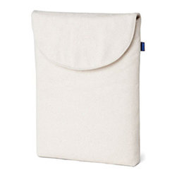 Canvas iPad Sleeve - Hold on a moment while your iPad slips into something more comfortable.