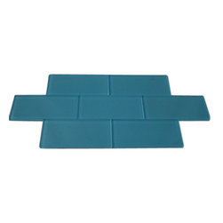 "Loft Turquoise Polished Glass Tiles - SAMPLE - LOFTTURQUOISE POLISHED 3X6 GLASS TILES 1 PIECE SAMPLE You are purchasing a 1 piece sample measuring approximately 3 "" x 6"". Samples are intended for color comparison purposes, not installation purposes.-Glass Tiles -"