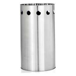 Blomus - SYMBOLO Umbrella Stand - Take a stand against dripping umbrellas! The SYMBOLO Umbrella Stand keeps the excess raindrops at bay, saving your floor from a slippery mess. An elegant cut-out detail along its border lends an architectural beauty that's uniquely charming. Crafted with rust-proof stainless steel, it's suitable for indoor or outdoor use.