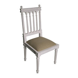 NOIR - NOIR Furniture - St. Michel Side Chair in White Weathered - GCHA144WW-C - Features: