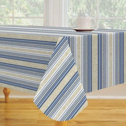 Elrene Home Fashions - East Hampton Vinyl Tablecloth - Add style to your table setting with the striped East Hampton Tablecloth. Crafted of lightweight vinyl, this tablecloth is easy to clean and perfect for indoor or outdoor dining.