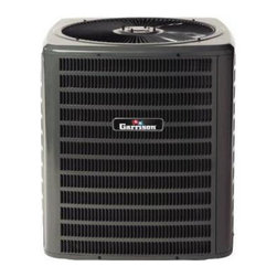 Garrison - Garrison GX SSZ140241 14 or 15 Seer 2 Ton Heat Pump - R410A Refrigerant - This is a brand new heat pump from Garrison GX.  The Garrison GX SSZ14 heat pump uses the environmentally friendly refrigerant R-410A and features operating sound levels that are among the best in the heating and air conditioning industry. R-410A is chlorine-free to help prevent damage to the ozone layer. With its 14 SEER rating, the SSZ14 will help reduce energy consumption throughout the life of the system. All Garrison GX HVAC equipment is comparable to the identical Goodman manufacturing part number, and can be serviced using Goodman parts. See below for a full list of features and specifications.