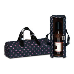 "Picnic Plus - Carlotta Clutch Wine Bottle Clutch, Black Jean - Picnic Plus Carlotta Clutch Wine Bottle Tote, Black Jean. Color/Design: Black Jean; Stylish wine bottle purse design; Soft sueded lined with an elastic inside pocket to hold keys, ID and more; Carlotta Clutch securely holds 1 bottle with the elastic inside strap. Dimensions: 14""W x 4 1/2""D x 4 1/2""H"