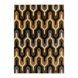 Inova Team - Modern Rug - This deliciously soft, Deco-inspired Jazz Singer Rug is a perfect accent to your Bauhaus-inspired décor. Layered with another jazzy rug in your living room, beneath your dining room table, or underneath your bed frame, the Jazz Singer Rug will have you reeling in the comforts of a modern home.
