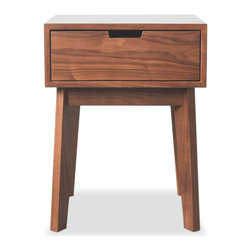 Hedge House Furniture - Ventura Nightstand - Features include dovetailed drawers and self-closing, smooth glide slides mounted under drawer boxes.