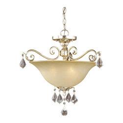 Vaxcel - Vaxcel Newcastle Semi Flush Ceiling Light - Newcastle Semi Flush Ceiling Light Gilded White