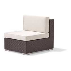 Caluco - Dijon Sectional Middle - The Dijon Sectional Middle combines style, durability, and comfort to provide unmatched value in outdoor seating.  Pictured in the CH dark java wicker.