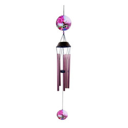 Great World - 37 Inch Metal Colorful Hand Painted Hummingbird Topped Wind Chime - This gorgeous 37 Inch Metal Colorful Hand Painted Hummingbird Topped Wind Chime has the finest details and highest quality you will find anywhere! 37 Inch Metal Colorful Hand Painted Hummingbird Topped Wind Chime is truly remarkable.