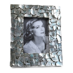"Concepts Life - Concepts Life Photo Frame  Sacred Mantle  5x7"" - Add luxurious shimmer and texture to your most beloved photographs with our Sacred Mantle Photo Frame. These dazzling silver frames feature a shell like finish and look stunning when they catch a ray of light.  Modern home accent Contemporary silver picture frame Beautiful and elegant home accent Rectangular photo frame Made of polyresin Textured glossy finish Easel back for horizontal or vertical display Various sizes available Holds 5 x 7 in. size photo Dimensions: 9""w x 12""h x 1""d Weight: 2 lbs"