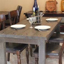 Mediterranean Outdoor Dining Tables by Old World Italian Rustics LLC