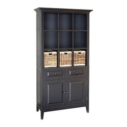 EuroLux Home - New China Cabinet Black Painted Hardwood - Product Details
