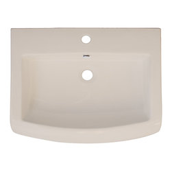 American Imaginations - 24-in. W x 18-in. D Ceramic Top - This transitional ceramic top belongs to the exquisite Metro design series. It features a rectangle shape. This ceramic top is designed to be installed as an drop in ceramic top. It is constructed with ceramic. It is designed for a single hole faucet. The top features a 6-in. profile thickness. This ceramic top comes with a enamel glaze finish in Biscuit color. Bull-nose front rectangular biscuit ceramic top. Can be installed as a counter top on a cabinet. Rounded front profile. This Ceramic Top features Chrome hardware. Double fired and glazed for durability and stain resistance. Quality control approved in Canada and re-inspected prior to shipping your order