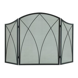 Pleasant Hearth - Pleasant Hearth 959 Arched Fireplace Screen - Black - 959 - Shop for Lighting (Not Switch Units or Terminals) from Hayneedle.com! The Pleasant Hearth 959 Arched Fireplace Screen - Black protects you and your family against hot embers and flying sparks while enhancing the decor with an old world charm. This attractive mesh and steel screen showcases twisted steel accents a gently curving frame and a powder-coated black finish that is quite sophisticated. The screen measures 48W x 30H inches fits most fireplace openings and arrives fully assembled.About GHP GroupGHP Group creates electric fireplaces accessories log sets and other heating options found in homes across America. With years of experience and a close attention to detail their products exceed industry standards of safety quality durability and functionality. Whether you're warming a room or just making a relaxing glow there's a GHP Pleasant Hearth product for you.