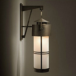 Antique Matte Glass Shade and Iron Art Wall Sconce -