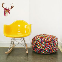 eclectic ottomans and cubes by Lark
