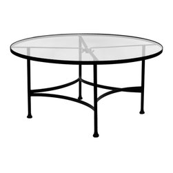 """Classico 48""""Rd. Round Glass Top Dining Table - Dimensions -"""