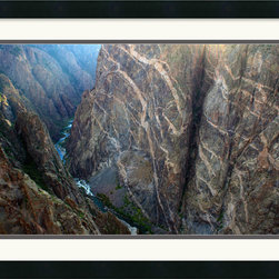 Amanti Art - Black Canyon Painted Wall Framed Print by Andy Magee - The Black Canyons of Gunnison National Park are works of art in themselves, as this nature photography print so beautifully attests.