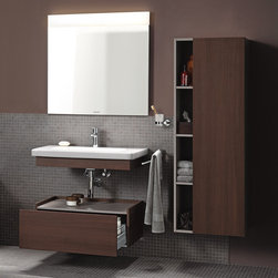 Duravit Fixtures & Accessories - Fantastic wood panel bathroom cabinet by Duravit.