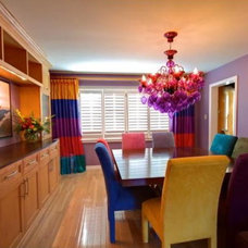 Eclectic  Color Splash Dining