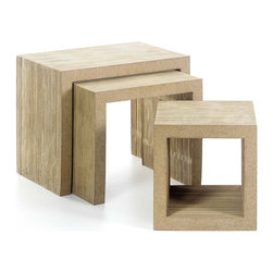 Vitra - Vitra Frank Gehry Low Table Set, Natural Edges - Design icon Frank Gehry brings his architectural genius to your home with this set of low tables. Conceived in 1972, these sculptural tables will bring a modern edge to your decor, and are surprisingly simple and sturdy.
