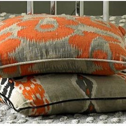 Leopard Print Orange Throw Pillow - Leopard print in orange — I die.
