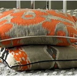 Leopard Print Orange Throw Pillow - Leopard print in orange — I die.