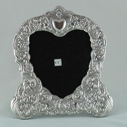 Sterling Silver Picture Frame - Heart (5x5) - -Made from 950 Peruvian sterling silver