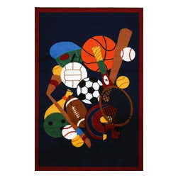 "Fun Rugs - Kids Fun Time 3'3""x4'10"" Rectangle Multi Area Rug - The Fun Time area rug Collection offers an affordable assortment of Kids stylings. Fun Time features a blend of natural Multi color. Machine Made of 100% Nylon the Fun Time Collection is an intriguing compliment to any decor."