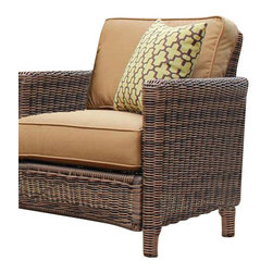 South Sea Rattan - South Sea Rattan Del Ray Resin Wicker Chair in Canvas Cork - South Sea Rattan and Wicker Furniture Company has been offering a stylish alternative in casual home furnishings since 1984. Rattan and wicker, although classic, natural materials with centuries of history, work well for the furniture buyer who wants a home reflecting the feel of casual elegance. Rattan and wicker furniture offer comfort, versatility and livability. It mixes well with upholstered pieces, providing texture and nature to the home environment, patio, or sunroom.