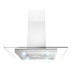 """AKDY - AKDY AK-Z610I Euro Stainless Steel Island Mount Range Hood, 36"""" - Stylish and practical, the 36"""" AKDY 610i range hood integrates perfectly into any kitchen design. The centrifugal fan efficiently removes cooking vapors and smoke while the quad LED lights provide exceptional task lighting while cooking. Complete with durable stainless steel mesh filters which are dishwasher safe for easy cleaning."""