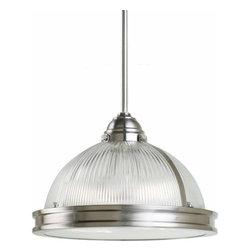 Sea Gull Lighting - 2-Light Pendant Brushed Nickel (includes bulbs) - 65061BLE-962 Sea Gull Lighting Pratt Street Prismatic 2-Light Pendant with a Brushed Nickel Finish