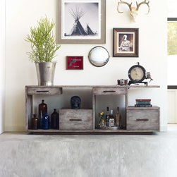 Eclectic Media Storage: Find TV Stands and Media Console Ideas Online