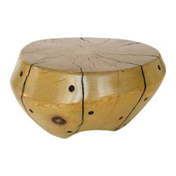 EcoFirstArt - Sculptural Freeform Table/Stool - This Giving Tree-inspired stump bowl stool is a sculptural accent for your home that also serves an important function. Whether you use it for comfortable, stylish seating or as a low table, this reclaimed wood piece is sheer perfection.