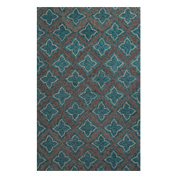 Jaipur Rugs - Moroccan Pattern Polyester Blue/Gray Indoor-Outdoor Area Rug ( 2x3 ) - These Catalina rugs will add a pop to any outdoor space with its rich inspiration from Moroccan trellis and tile patterns.