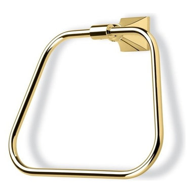 StilHaus - Classic-Style Brass Towel Ring, Gold - Towel ring