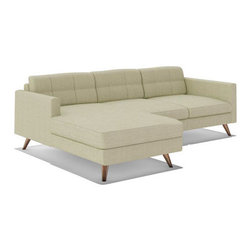 "Truemodern - Dane 90"" Sectional Sofa - Dane 90"" Sectional Sofa by TrueModern designed by Edgar Blazona.. With its Danish styled wood legs and intricately stitched back cushions, the Dane 90"" Sectional Sofa is an all-around showpiece of functional and attractive modern design. Perfect for use against a wall or even in the center of a room, this sofa with chaise has details like cording and super-slim arms to give it character - and you won't find a sectional with more gorgeously shaped and finished legs. This modern sectional sofa delivers the look you love and the comfort you expect."