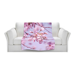 DiaNoche Designs - Fleece Throw Blanket by Iris Lehnhardt - Vintage Spring Lilac Pink - Original Artwork printed to an ultra soft fleece Blanket for a unique look and feel of your living room couch or bedroom space.  DiaNoche Designs uses images from artists all over the world to create Illuminated art, Canvas Art, Sheets, Pillows, Duvets, Blankets and many other items that you can print to.  Every purchase supports an artist!