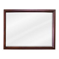 Hardware Resources - Mahogany Modern Jeffrey Alexander Mirror 42 x 1-1/4 x 28 - 42 x 28 Mahogany rectangle mirror with beveled glass