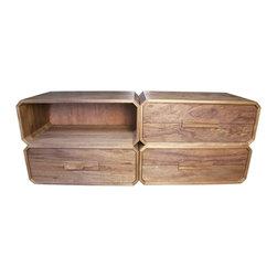 NOIR - NOIR Furniture - Luke Sideboard in Dark Walnut - Features: