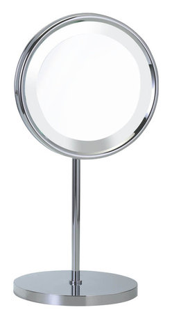 WS Bath Collections - Smile 313 Magnifying Illuminated Mirror - Smile 313 Magnifying Makeup Mirror illuminated, 5x or 8x Magnification
