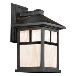 Forte Lighting - Forte Lighting 17020-01 Energy Efficient Craftsman / Mission Outdoor Wall Sconce - *Single Light Outdoor Wall Lantern
