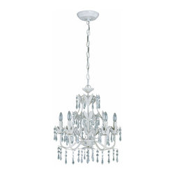 Lite Source - Crystal 5 Light Mini ChandelierEvelyn Collection - To put it plainly and simply, Lite Source is a quality manufacturer of a vast selection of both beautiful and affordable interior lamps, not to mention a small number of other household items.